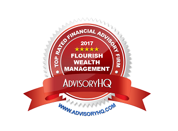 Flourish Wealth Management Award Emblem Red