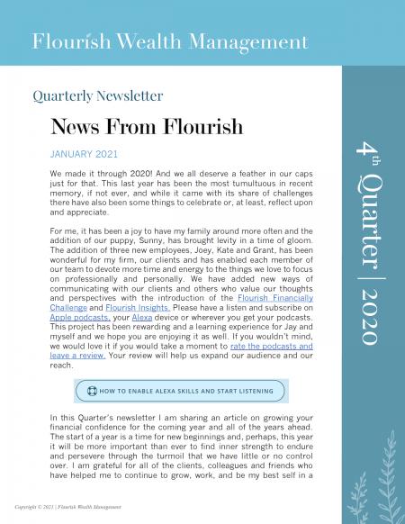 Q4 2020 Quarterly Newsletter