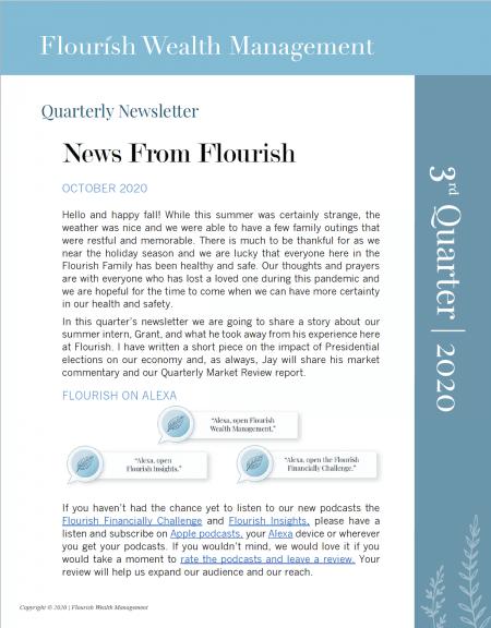 Q3 2020 Quarterly Newsletter