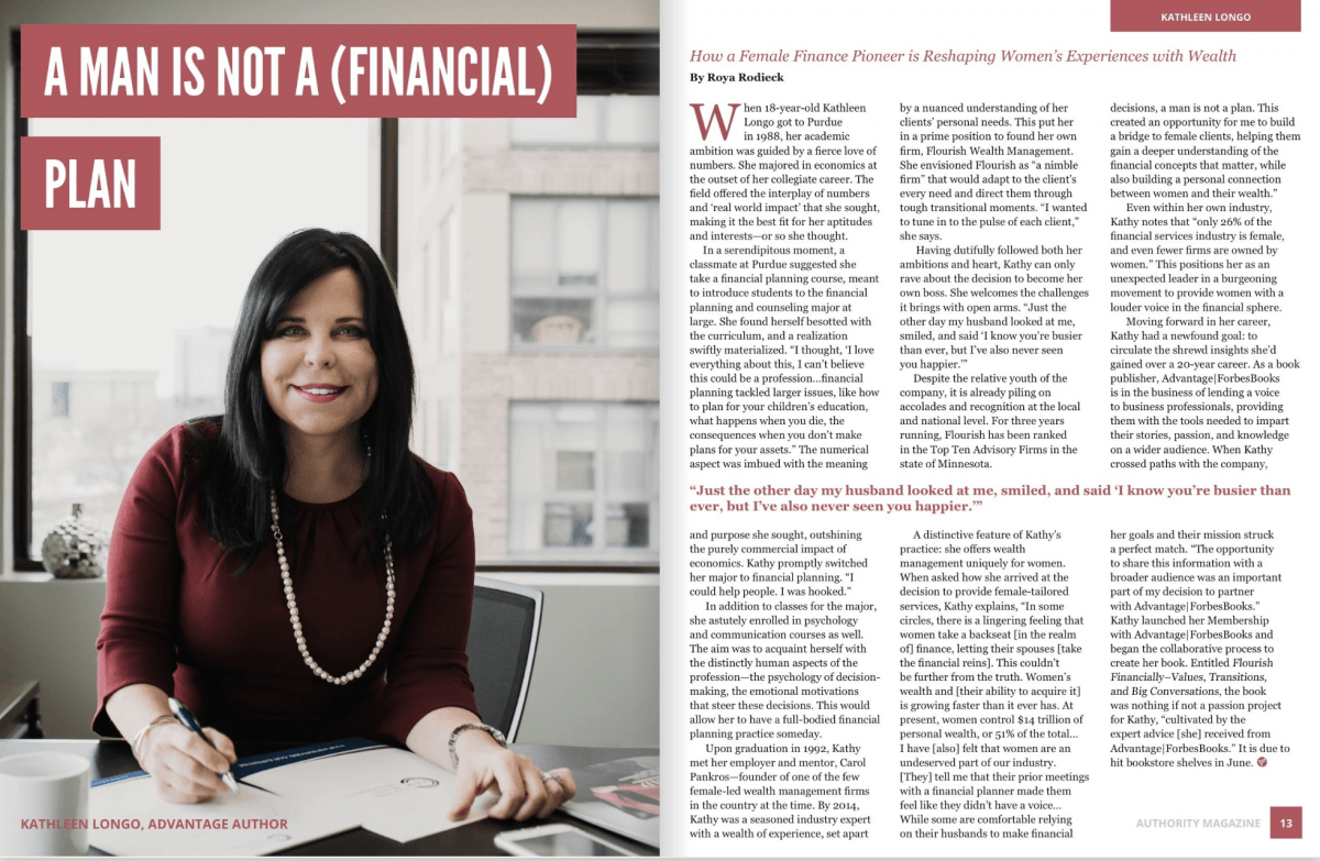 Kathy Longo featured in Authority Magazine published by Advantage Media